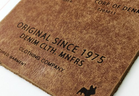 Custom hot sale jeans brand logo embossed leather patches labels for clothing and shoes