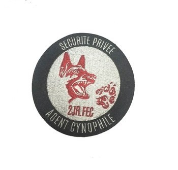 security dog badge embroidered patch