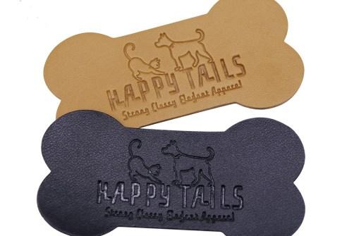 Wholesale cute dog Logo Leather Label