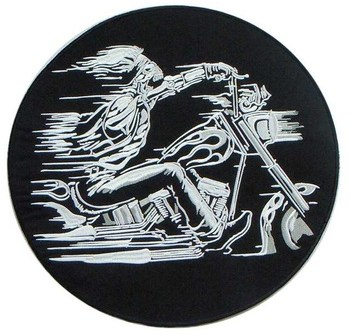 Wholesale Heat Cut Custom Embroidery Patches Custom Biker Patches Sewn on