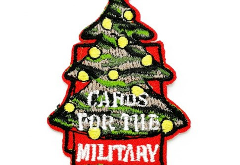 Promotional Gift Cute Cartoon Tree Christmas Clothing Embroidered Patch
