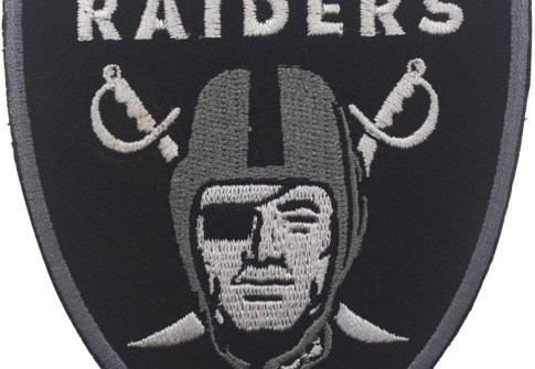 Custom Raider Football Team Logo Patch Embroidered Tactical Military Iron On Patches For Clothing