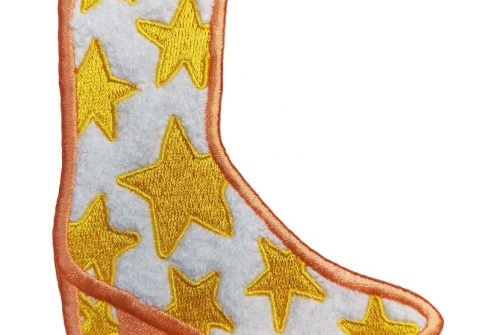 High Quality Custom New Designhigh-Heeled Shoes Patch Embroidery