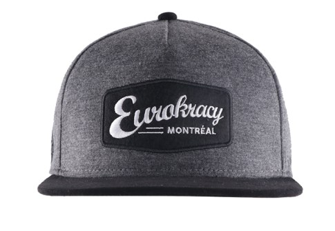Discount Price 5 Panel Stuctured Black Nylon Trucker Snapback Hat With Woven Patch 3D Embroidery Logo