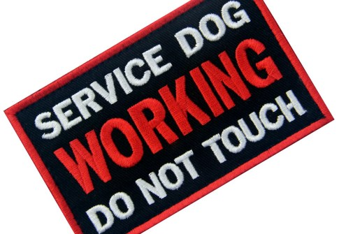 Service Dog Working Do Not Touch Vests/ Harnesses Emblem Embroidered Fastener Hook & Loop tactical patch