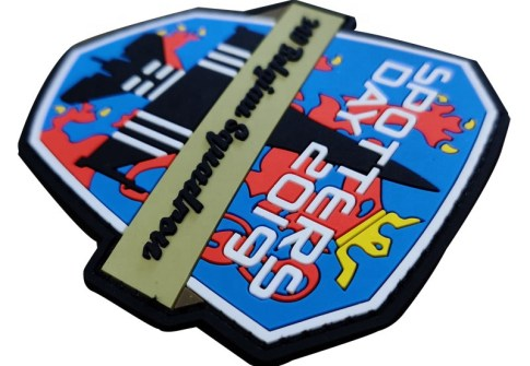 custom 3D soft PVC patch for military uniform with hook and loop backing sew on backing for custom rubber patches