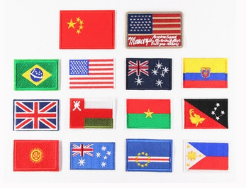 Factory price cheap country flag patches