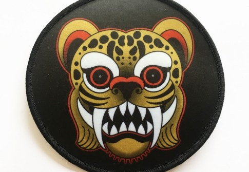 Custom tiger printed patch for garment and luggage