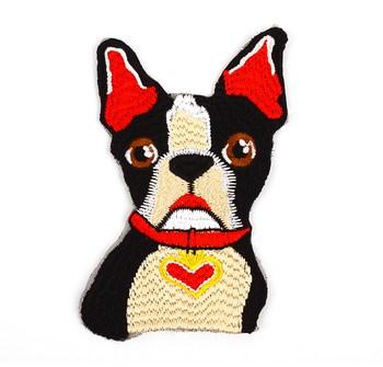 Hot Sale Custom Blank Back Big Service Dog Pet Wolf Tiger Embroidery Jackets Patch