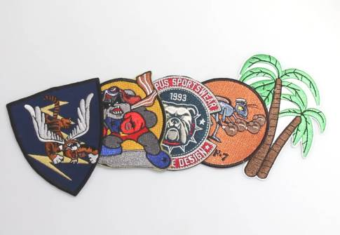 Firm embroidered emblem fabric felt embroidery tiger patches and badges