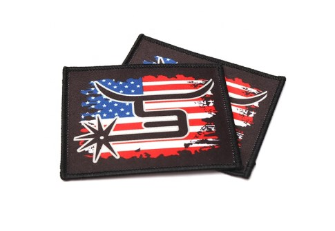 Custom Garment Branded Digital Transfer Printed Accessories Labels Iron On Sublimation Fabric Merrow Border Woven Patches