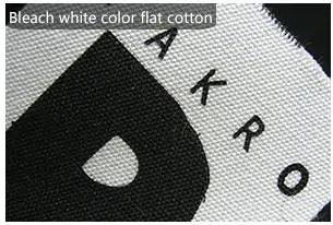 Bleach white color flat cotton