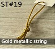 Gold metallic string