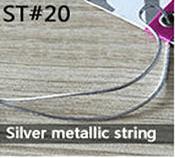 Silver metallic string