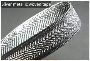 Sliver metallic woven tape