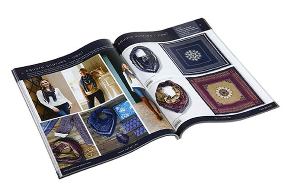 Soft touch lamination is one of high-end catalog printing choice