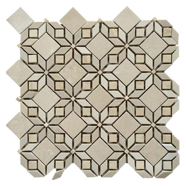 rhombus flower tile mosaic tiles