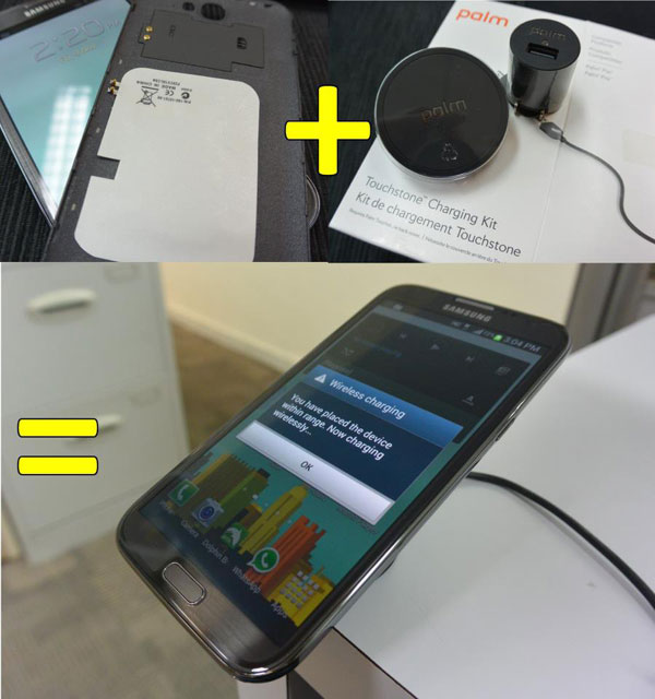 Modder adds wireless charging to Samsung Galaxy Note 2
