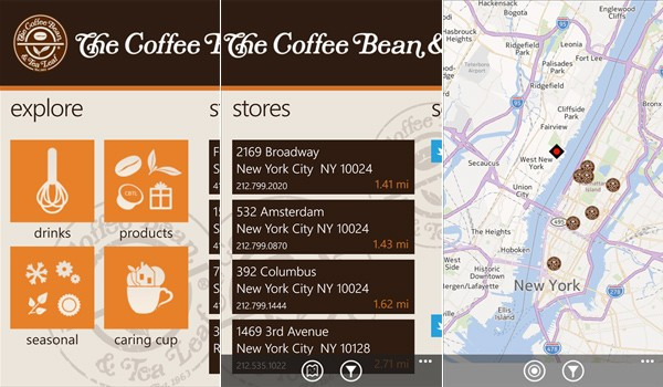 Coffee Bean and Tea Leaf App