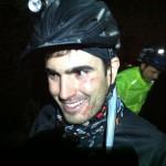 Night MTB rider