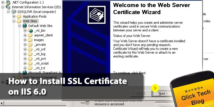 How to Install SSL Certificate on IIS 6.0