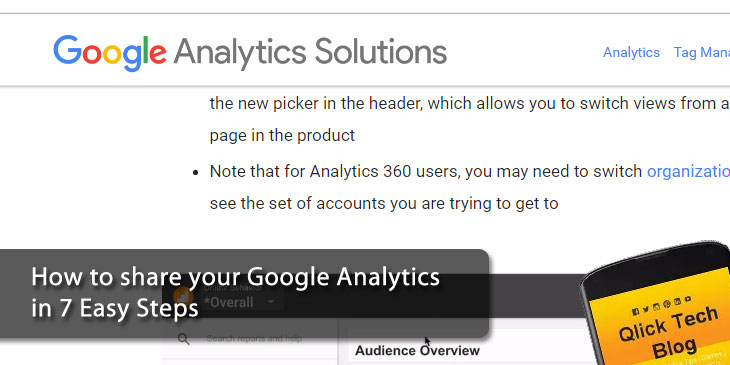 How to share your Google Analytics in 7 Easy Steps
