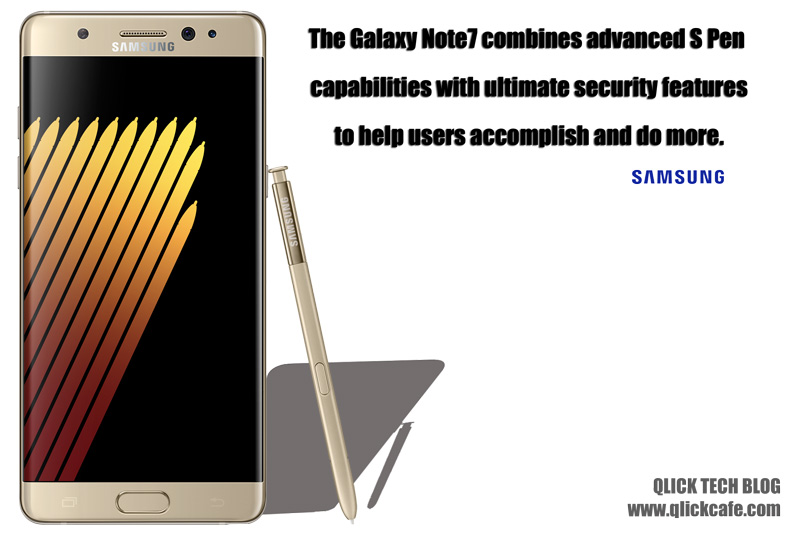 Samsung Unveils the New Galaxy Note7 The Intelligent Smartphone That Thinks Big
