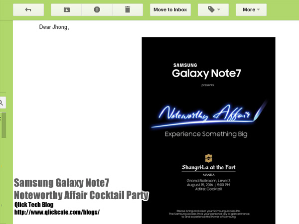 Samsung Galaxy Note7 – Noteworthy Affair Cocktail Party