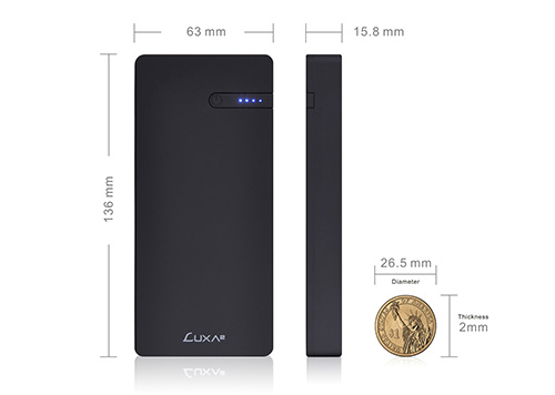 LUXA2 EnerG Slim 10000mAh Portable Power Bank