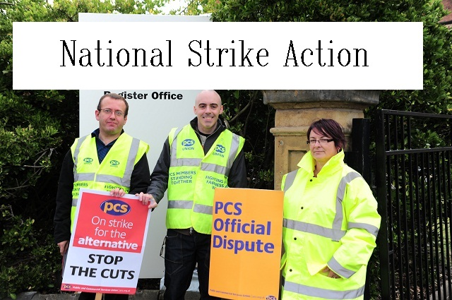 British strike picket