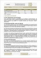 Vorlage Verfahrensanweisung Analyse und Beurteilung