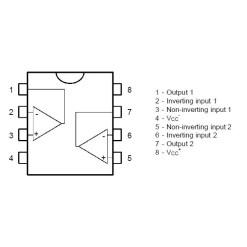 TL072CP Low Noise JFET Dual Op-Amp