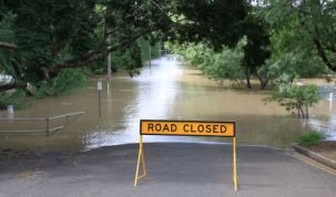 Stock image of flooding
