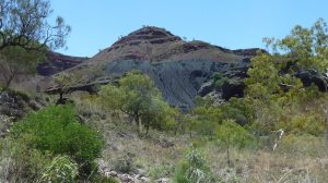 Tailings from the mine near Wittenoom township