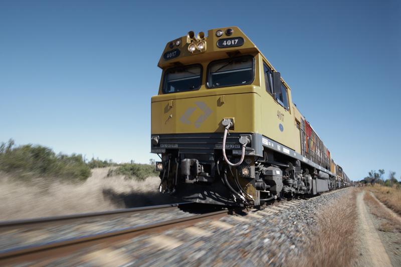 Aurizon train carrying coal