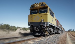 Aurizon train carrying coal