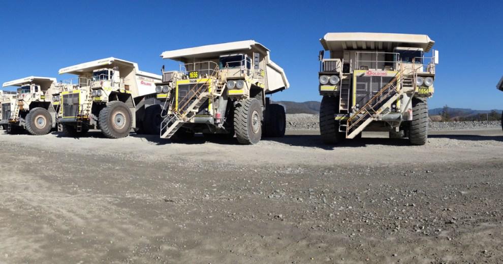 Golding Contractors dump trucks