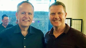 Former Federal Opposition Leader Bill Shorten with NT Resources Minister Paul Kirby