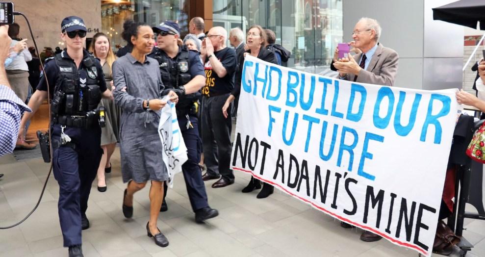 Stop Adani GHD Brisbane protest