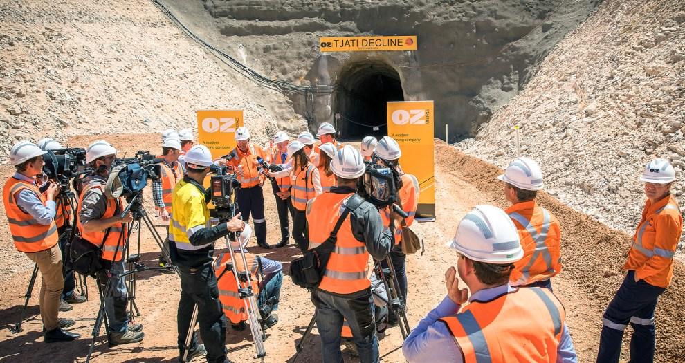 Carrapateena Copper Gold Mine tunnel