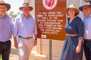 Anthony Albanese in Barcaldine