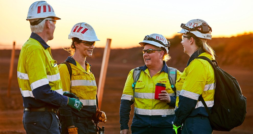 Rio Tinto workers