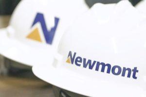 Newmont hard hats