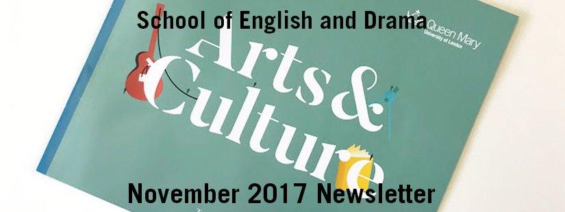 English and Drama Newsletter – November 2017