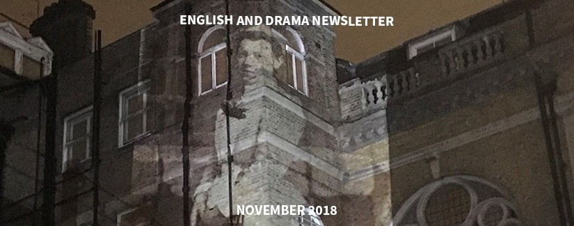 English and Drama Newsletter – November 2018