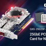 QNAPは、iSERサポートともにMellanox ConnectX-4 Lx SmartNICを搭載したNASとPC用の新しい25GbE NICを発表