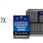 QNAP TS-1677XがEuropean Hardware Awards 2019のベストNASデバイスに選ばれました
