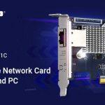 QNAPはNASやPC向けのシングルポート、4スピードの5GBASE-T NICを発売します