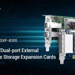 QNAPは、クアッドポート/デュアルポート外部SAS 12Gb/s ストレージ拡張カードをリリース – 最大4.6PBのストレージ容量への対応を追加