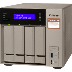 QNAP TVS-473e-4G 4-Bay Tower NAS with 2.10 GHz AMD RX-421 CPU and 4GB RAM